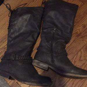 Brown boots by XOXO size 8.5, knee high